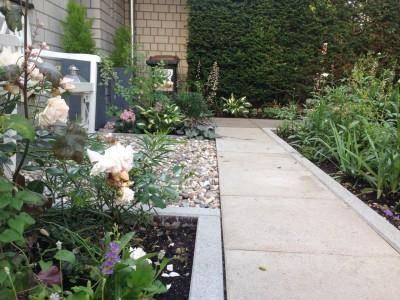 Schöne Vorgärten Materialmix mit Beton